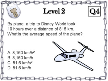 Speed, Velocity and Acceleration Activity: Escape Room - Science