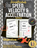 Speed, Velocity, and Acceleration - Bundle