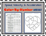 Speed, Velocity, and Acceleration *COLOR-BY-NUMBER* Activity