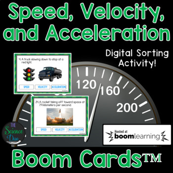 Speed, Velocity, and Acceleration - Digital Boom Cards™ Sort