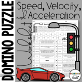 Speed Velocity and Acceleration Domino Puzzle Worksheet