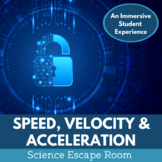 Speed Velocity and Acceleration Escape Room