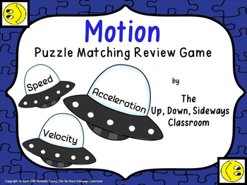 Speed Velocity and Acceleration Puzzle Matching Review Game