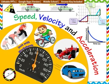 Speed, Velocity and Acceleration- Science Unit