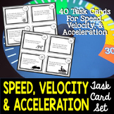 Speed, Velocity, and Acceleration Task Cards