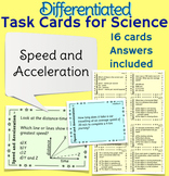 Speed, Velocity and Acceleration Task Cards