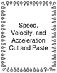 Speed , Velocity, and Acceleration cut and paste