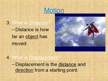 Speed, Velocity and Motion Powerpoint
