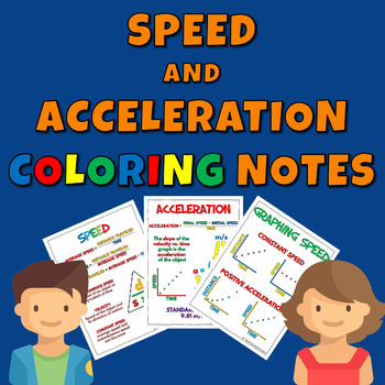 Speed and Acceleration Coloring Notes