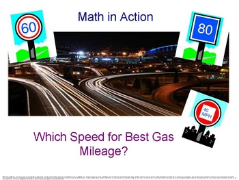 Which Speed for Best Gas Mileage? Math in Action series.