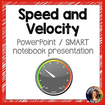 Speed and Velocity SMART notebook presentation