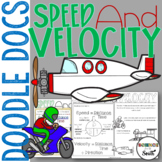 Speed and Velocity Doodle Docs Notes or Graphic Organizer