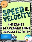Speed and Velocity Internet Scavenger Hunt WebQuest Activity