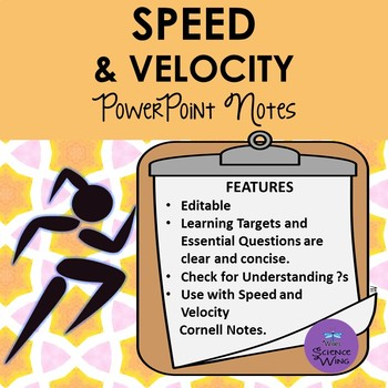 Speed and Velocity Notes - PowerPoint