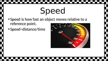 Speed and Velocity PowerPoint
