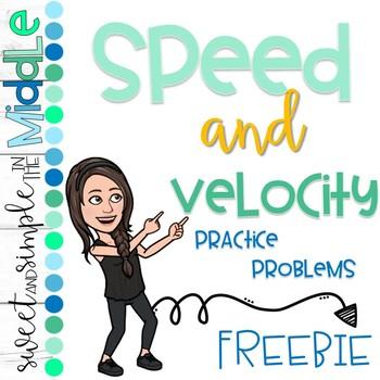 Speed and Velocity Practice Problems