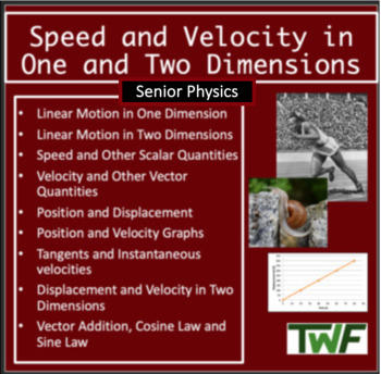 Speed and Velocity in One and Two Dimensions - Physics PowerPoint Lesson & Notes