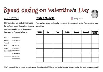 Speed dating on Valentine's day