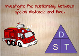 Speed, distance & Time investigation