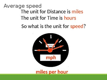 Speed, distance and time