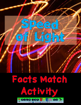Speed of Light (Universe) FACTS MATCH Activity