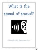 Speed of Sound Lesson Plan w/ printables