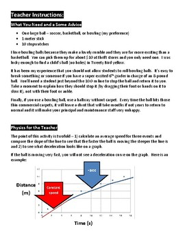 Speed or Velocity Activity - Ball Lab