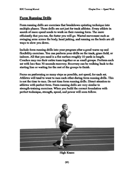 Speed work and form running drills