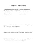 Speed worksheet