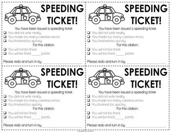 Speeding Ticket!