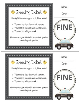 Speeding Ticket - Work Quality Management Tool