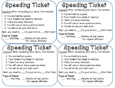 Speeding Ticket Classroom Management Tool for Careless Work
