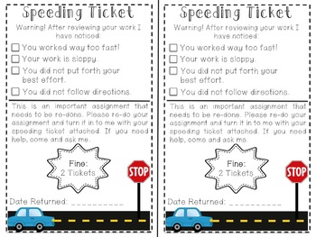 speeding ticket editable and non editable by sunshine loving teacher
