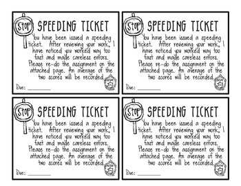 Speeding Tickets - FREE