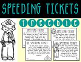 Classroom Management | Speeding Tickets - FREE