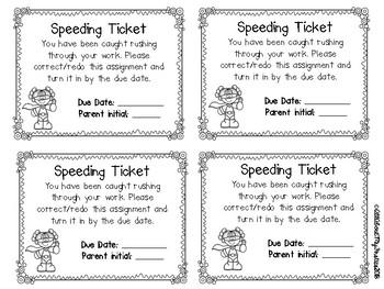 Speeding Ticket Freebie