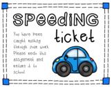 Speeding Ticket for Writers
