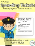 Speeding Tickets