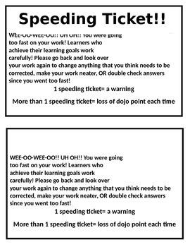 Speeding Tickets!