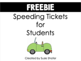 Speeding Tickets (FREEBIE!)