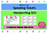 Speeding Tickets- Handwriting SOS