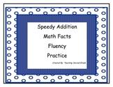 Speedy Addition Math Facts ~ Fluency ~ Math Tubs