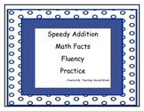 Speedy Addition Math Facts ~ Fluency ~ Math Tubs
