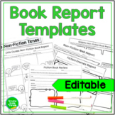 Speedy Book Report Templates For Students and Teachers