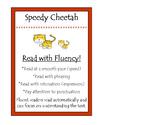 Speedy Cheetah Beanie Baby Reading Strategy Poster