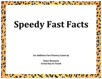 Speedy Fast Facts Addition