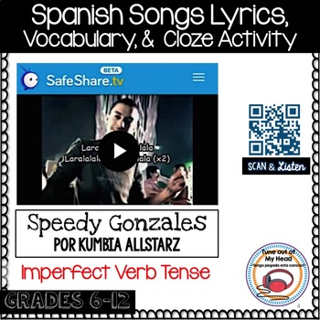 Speedy Gonzales Por Kumbia Allstarz Song Cloze Activity and Lyrics - Imperfect