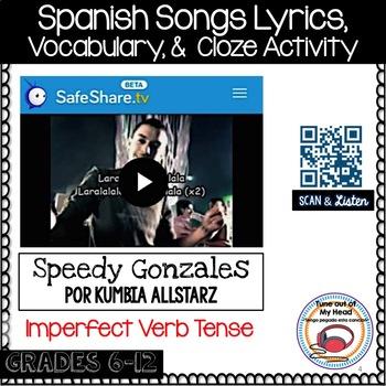 Speedy Gonzales Por Kumbia Allstarz Song Cloze Activity an