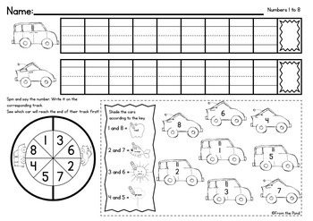 Numbers to 30 - Speedy Game Worksheets - No Prep