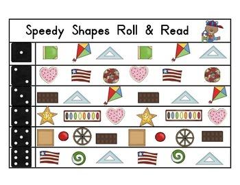 Speedy Shapes Roll & Read